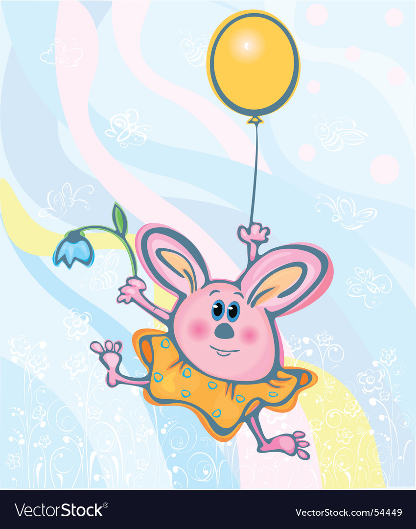 Bunny easter card vector | Price: 1 Credit (USD $1)