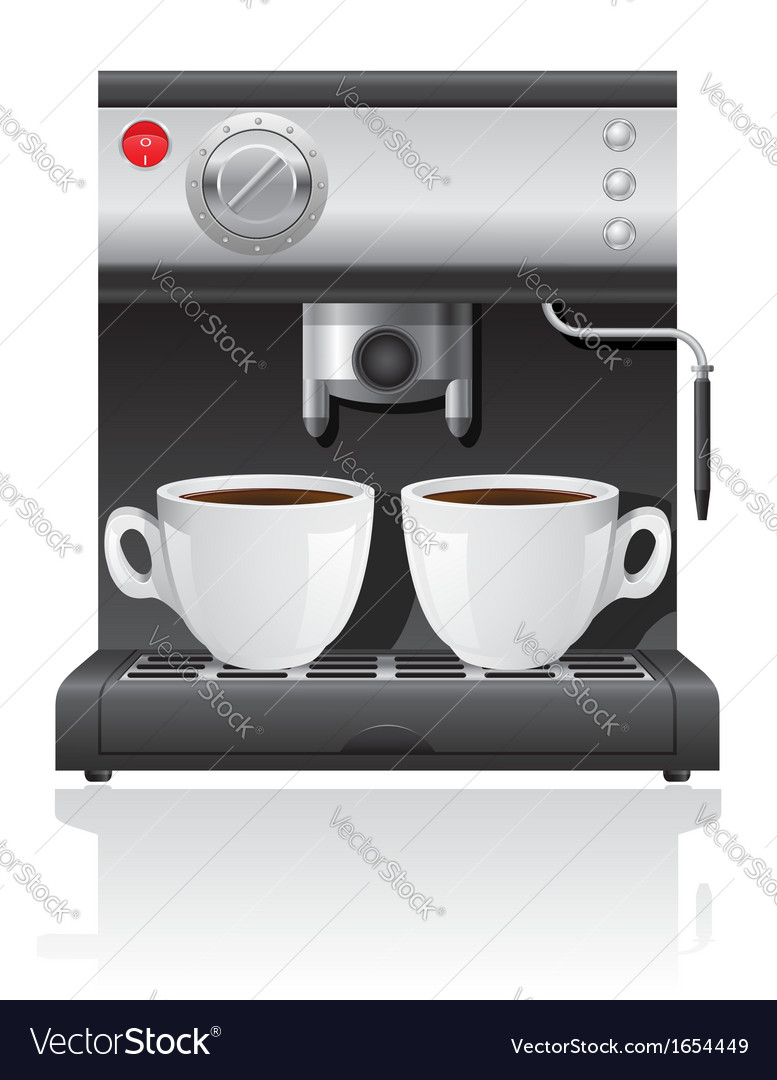 Coffee maker 04 vector | Price: 1 Credit (USD $1)