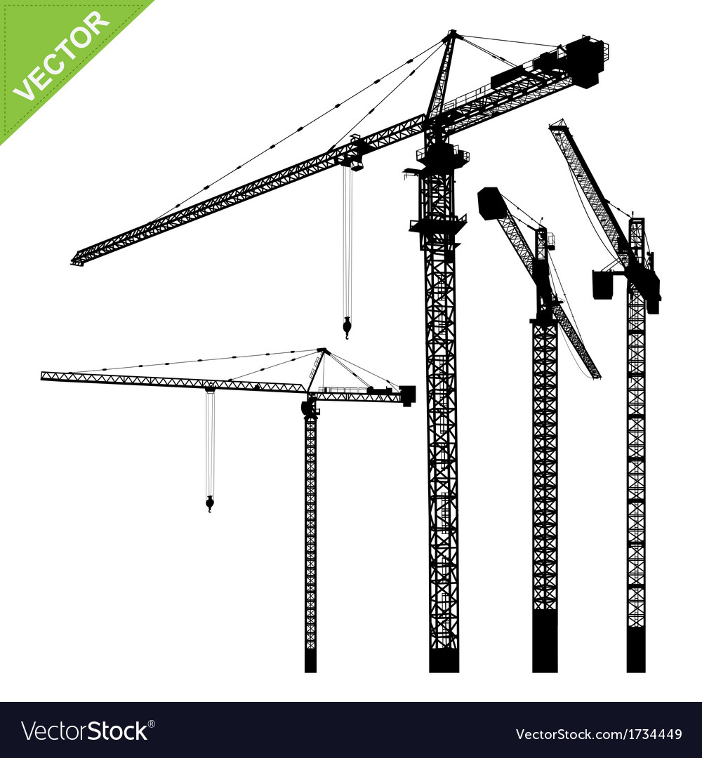 Cranes silhouettes vector   Price: 1 Credit (USD $1)