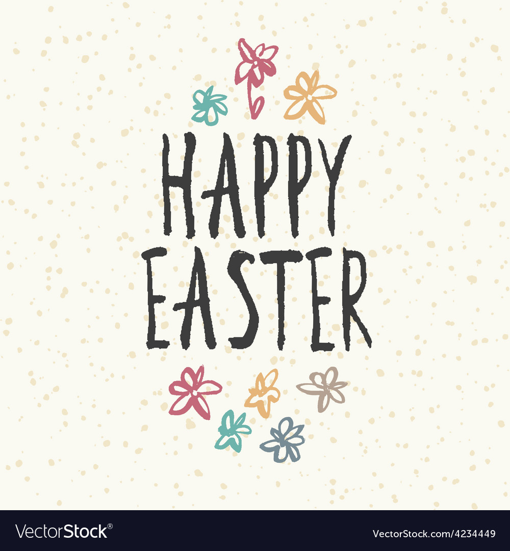 Easter hand drawn card vector | Price: 1 Credit (USD $1)