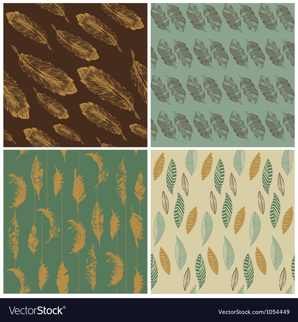 Feather seamless background vector | Price: 1 Credit (USD $1)
