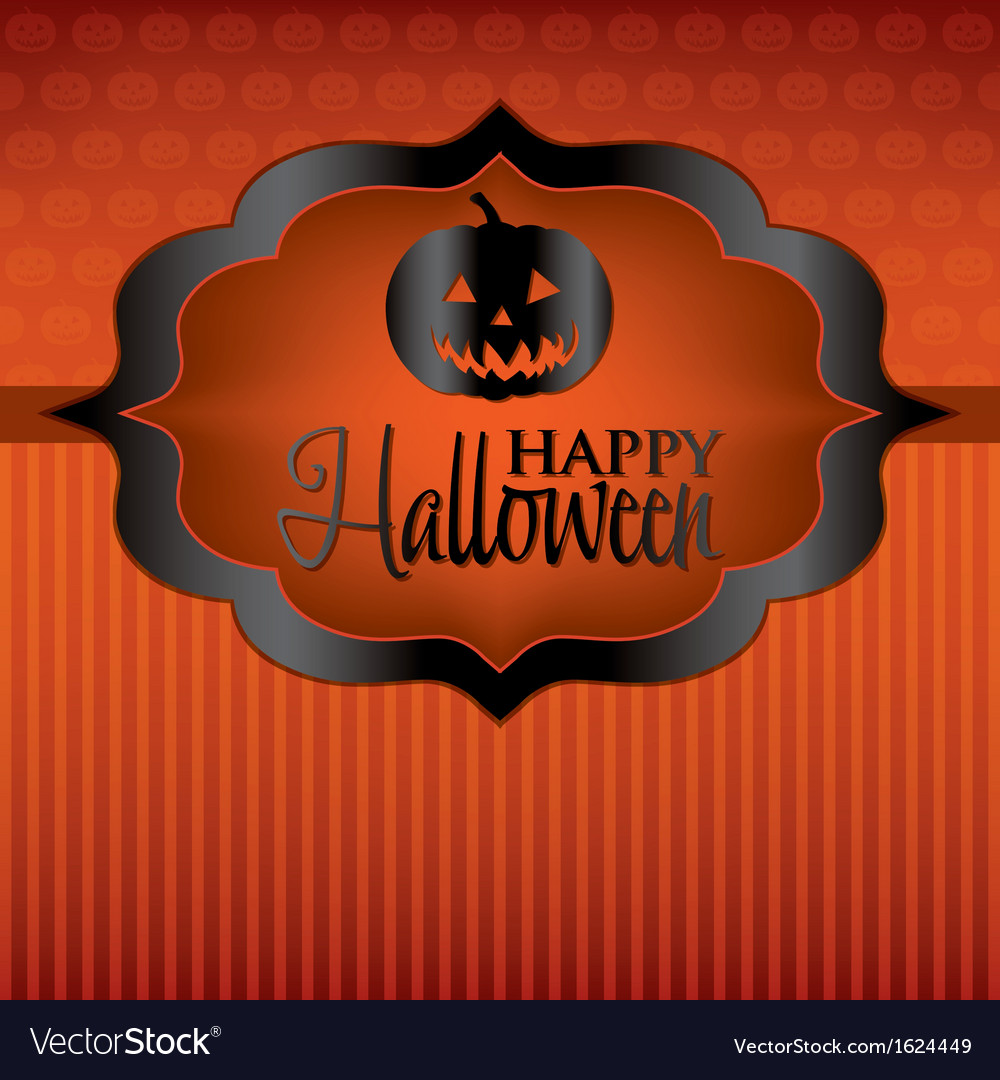 Happy halloween card vector | Price: 1 Credit (USD $1)