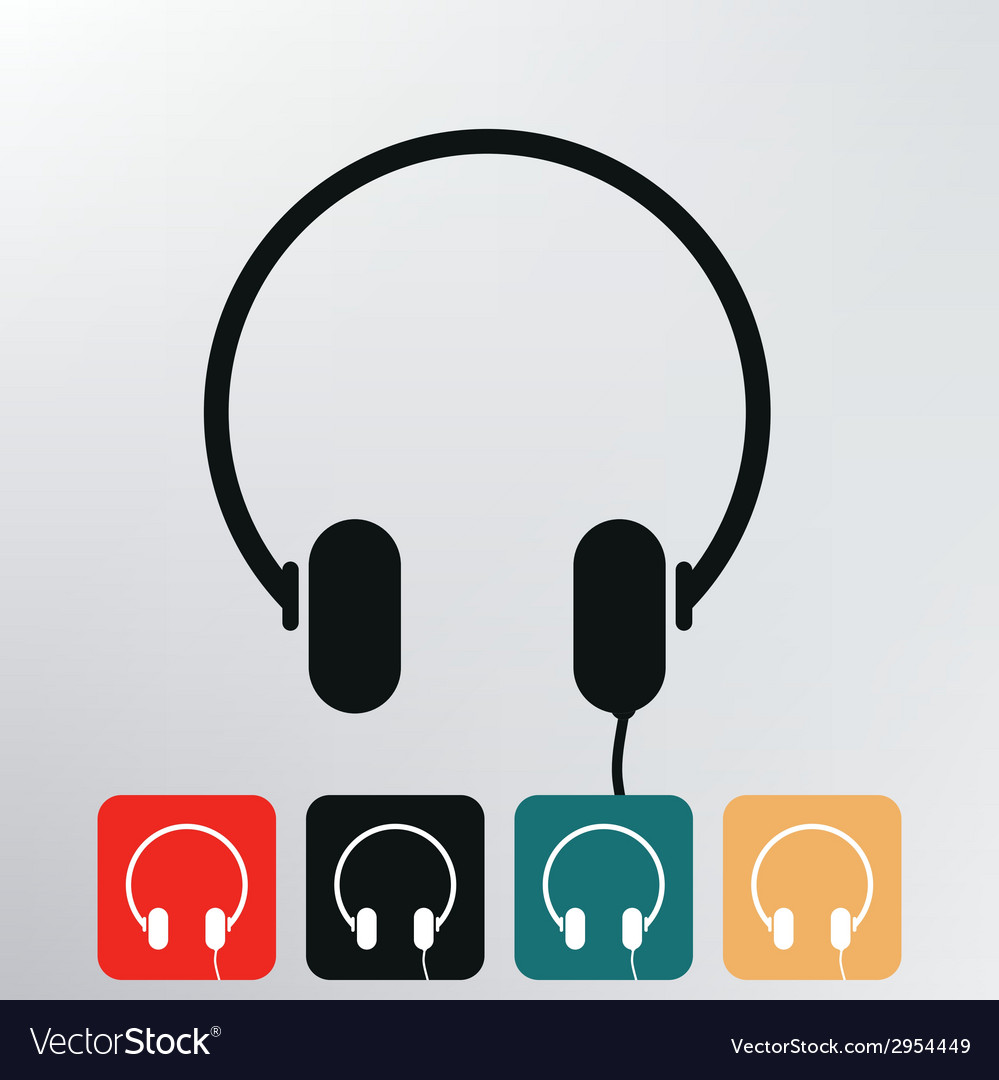 Headphone icon vector | Price: 1 Credit (USD $1)