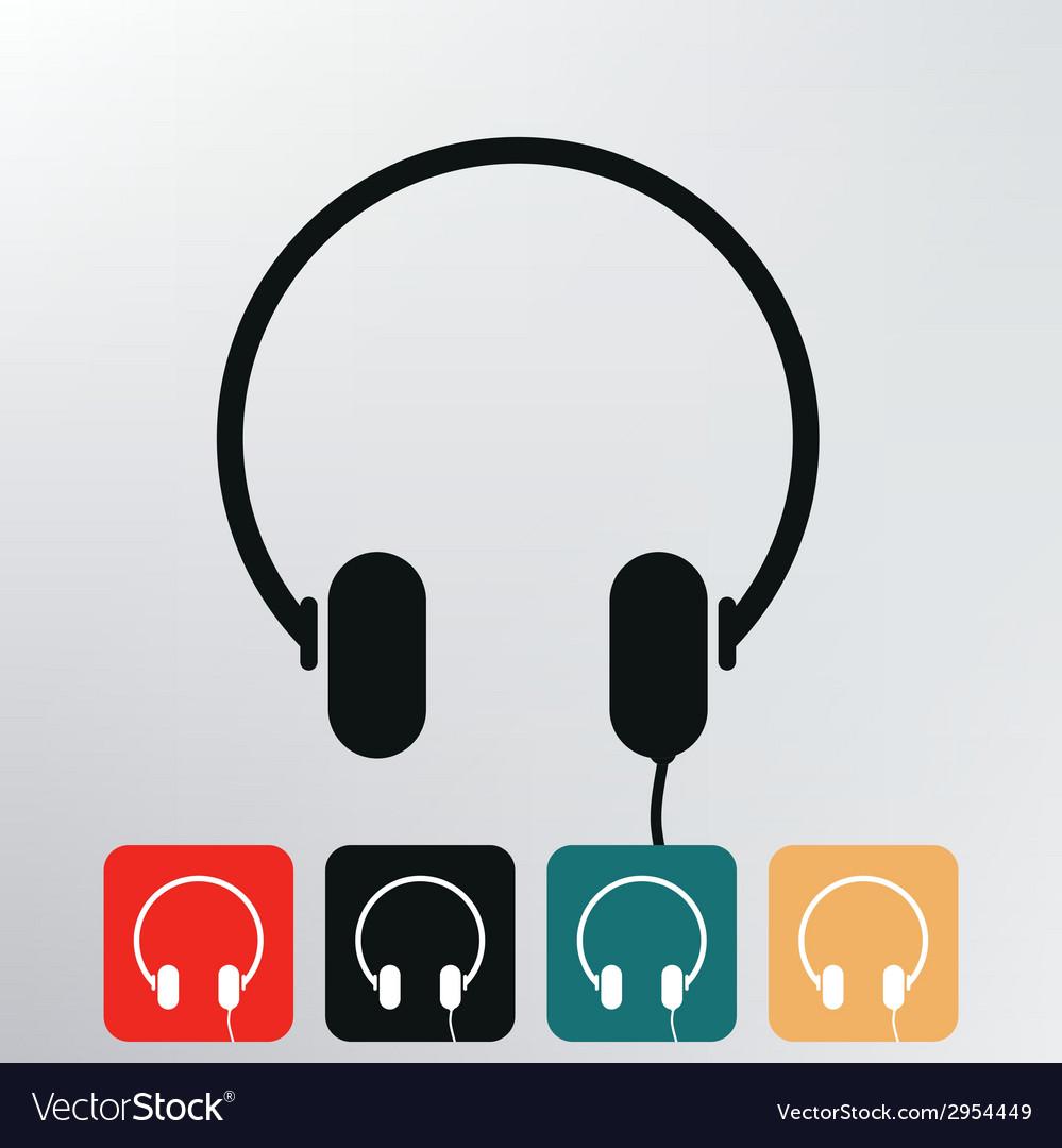Headphone icon vector   Price: 1 Credit (USD $1)