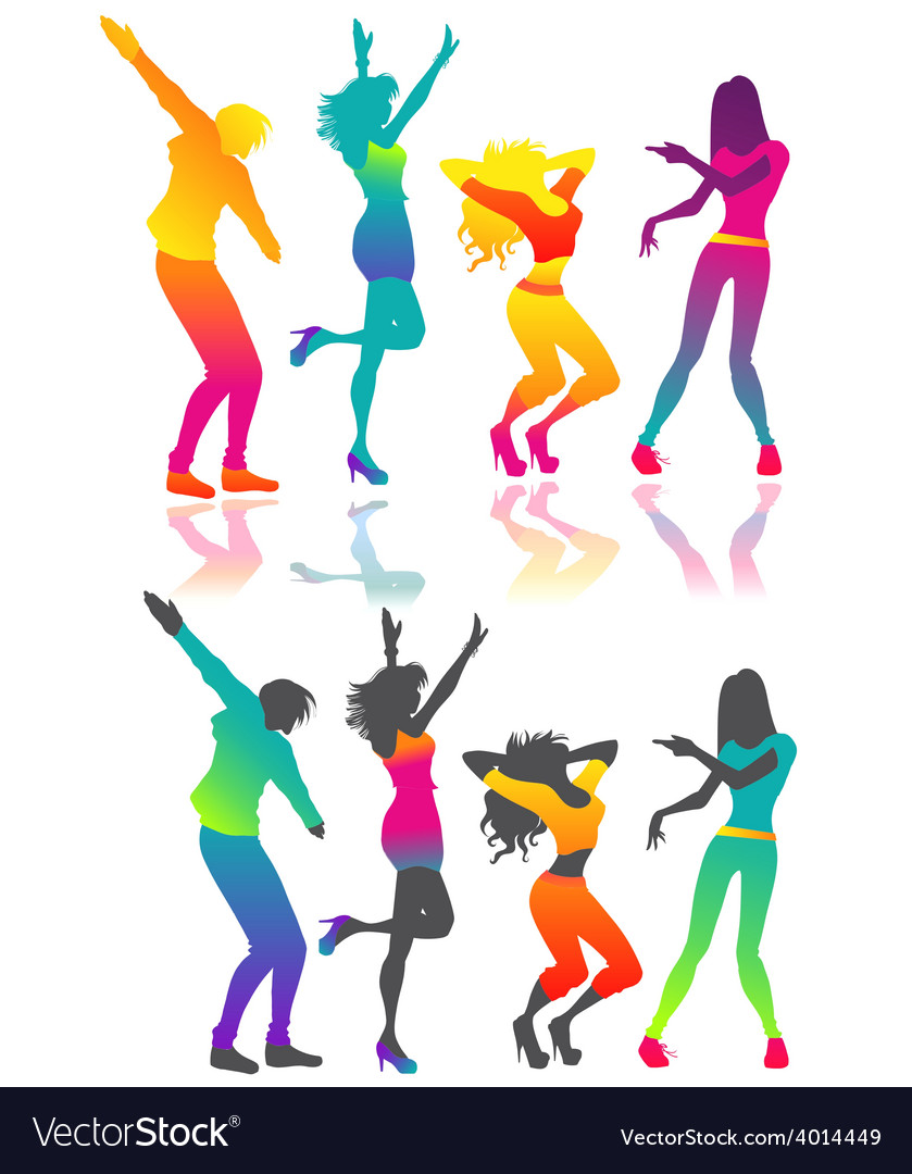 Isolated dancing people vector | Price: 1 Credit (USD $1)