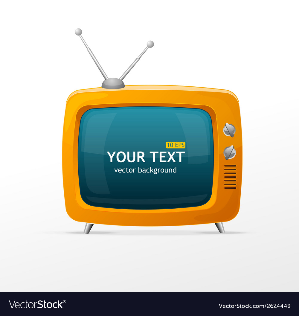 Orange retro tv vector | Price: 1 Credit (USD $1)