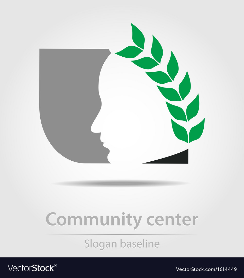 Original community center business icon vector | Price: 1 Credit (USD $1)