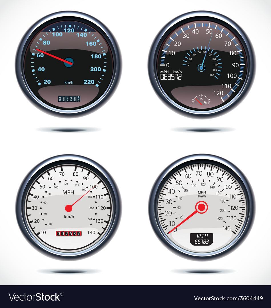 Realistic car speedometer vector | Price: 1 Credit (USD $1)