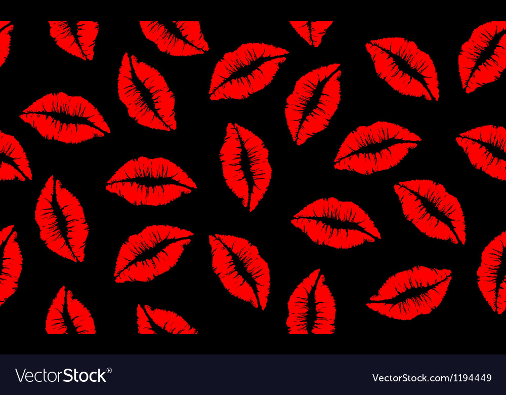 Seamless lip pattern red vector | Price: 1 Credit (USD $1)