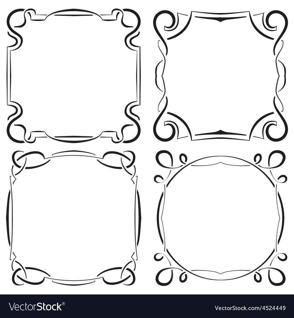 Set of four beautiful framework vector | Price: 1 Credit (USD $1)