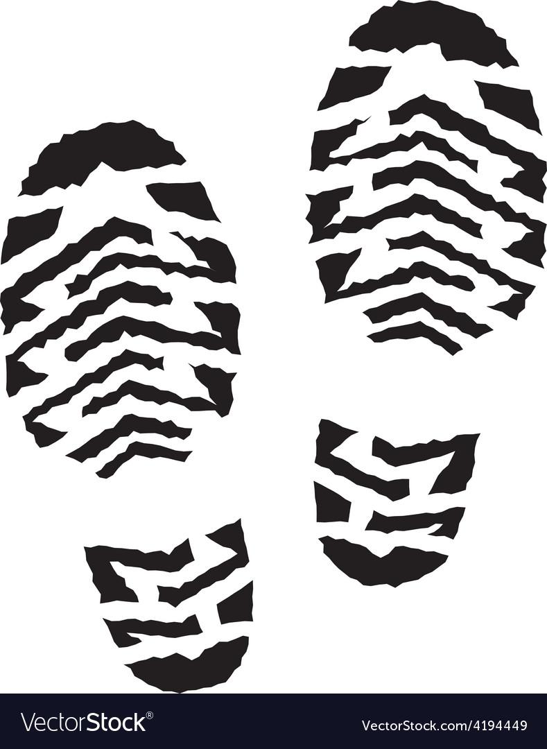 Shoe print vector | Price: 1 Credit (USD $1)