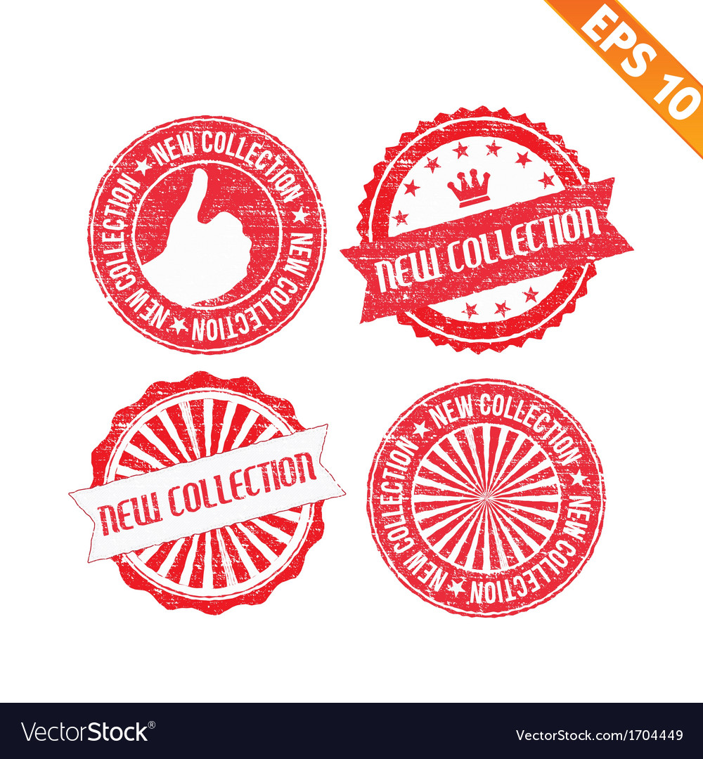 Stamp sticker new collection - - eps10 vector | Price: 1 Credit (USD $1)