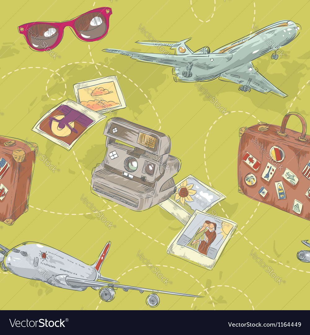 Travel seamless repeating pattern vector   Price: 3 Credit (USD $3)