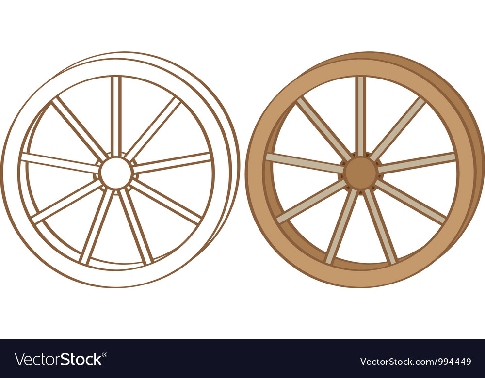 Wagon wheel vector | Price: 1 Credit (USD $1)
