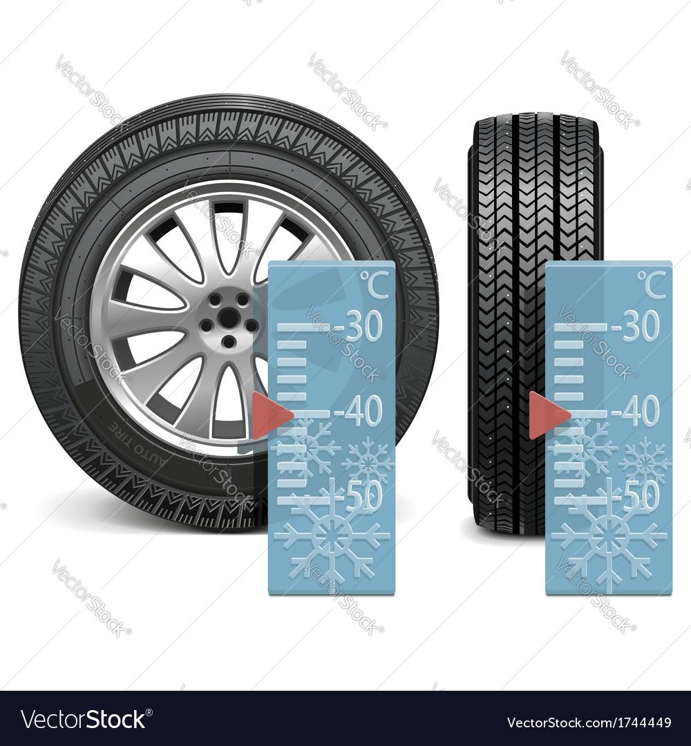 Winter tire vector | Price: 1 Credit (USD $1)