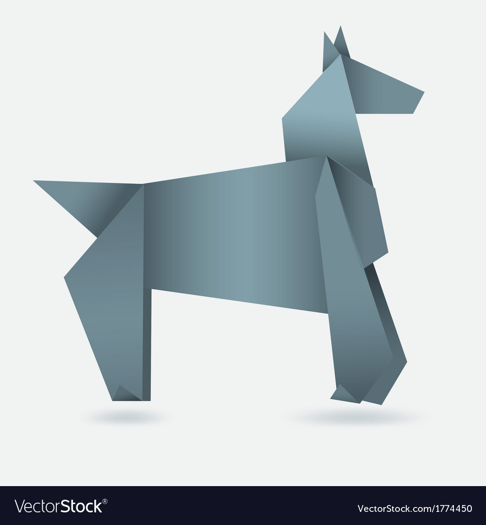 Abstract horse paper origami vector | Price: 1 Credit (USD $1)