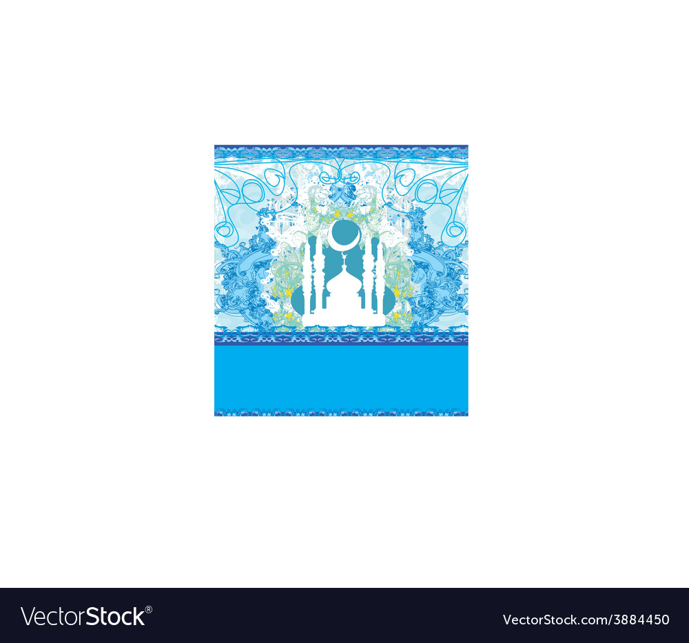 Abstract religious card vector | Price: 1 Credit (USD $1)