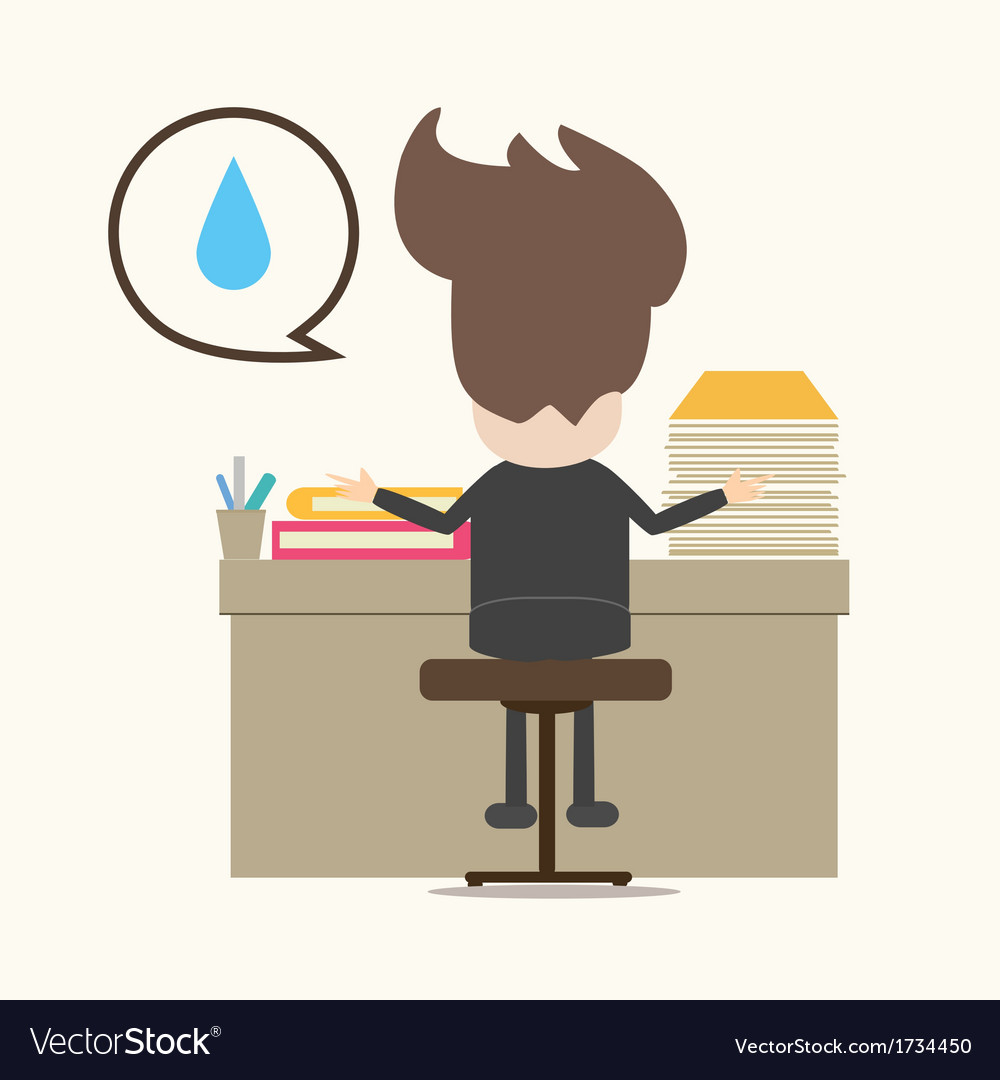Business man working hard vector | Price: 1 Credit (USD $1)