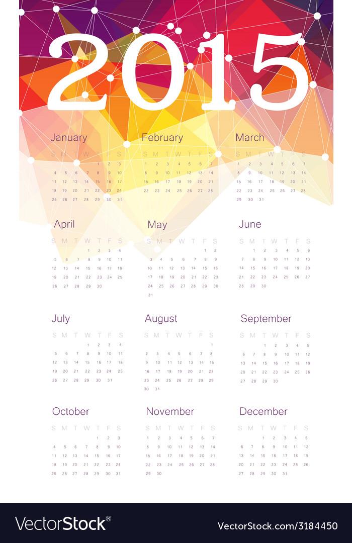 Calendar 2015 triangles vector | Price: 1 Credit (USD $1)