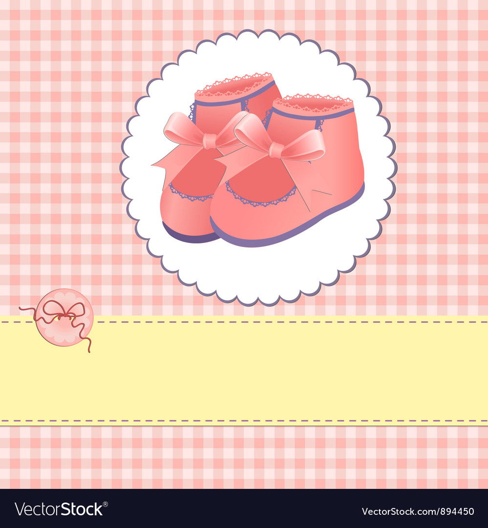 Cute template for baby card vector   Price: 1 Credit (USD $1)