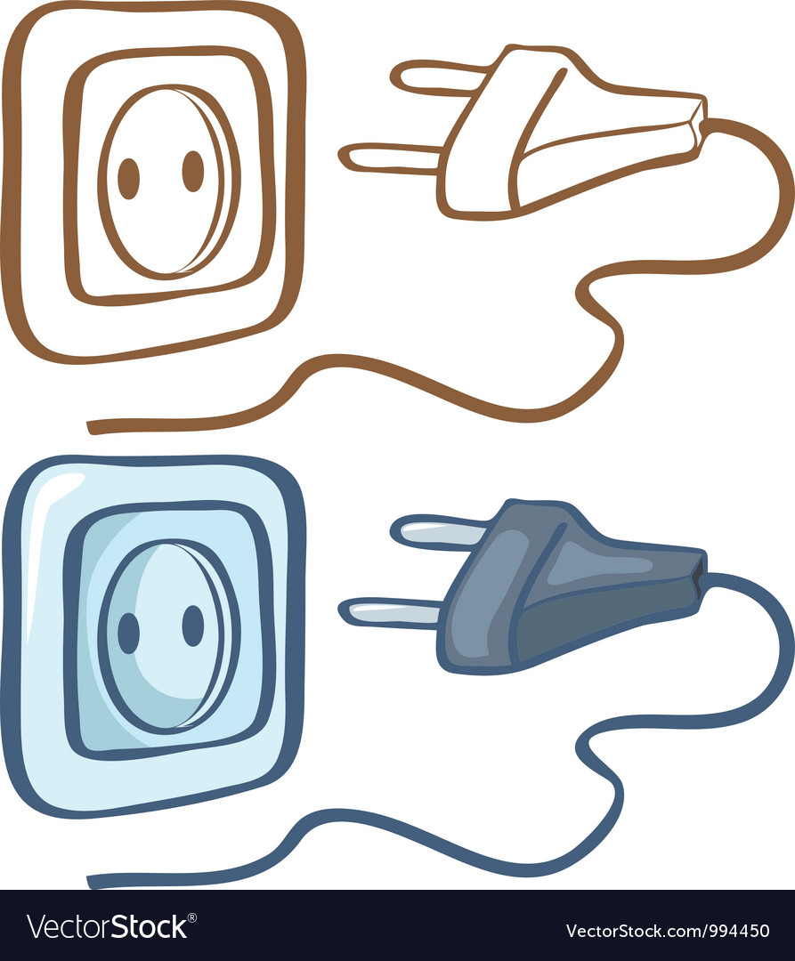 Electrical plug and socket vector | Price: 1 Credit (USD $1)