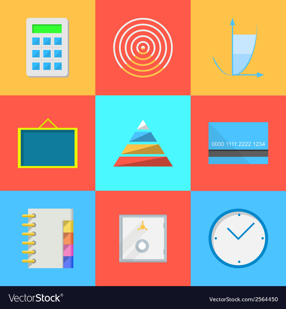 Flat icons for outsource work vector | Price: 1 Credit (USD $1)