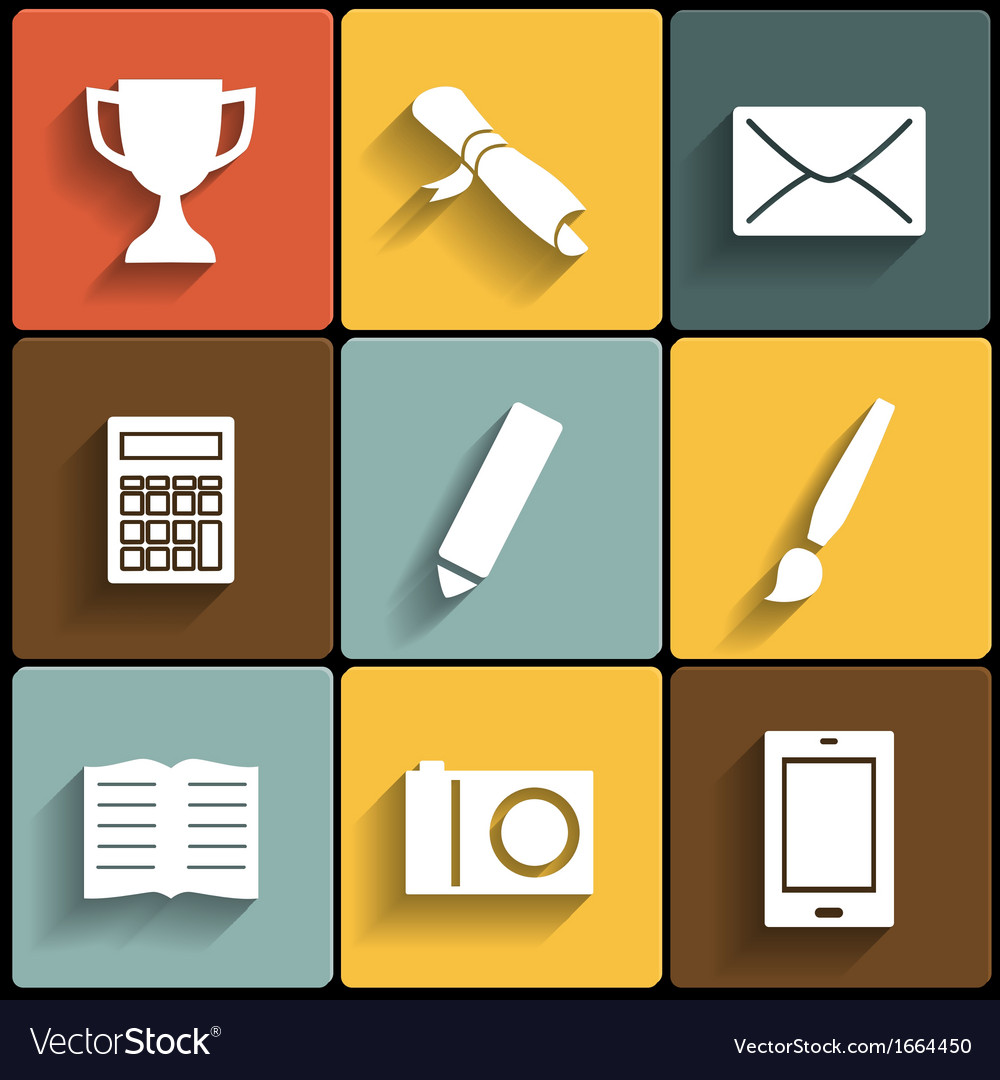 Flat icons for web and mobile vector | Price: 1 Credit (USD $1)
