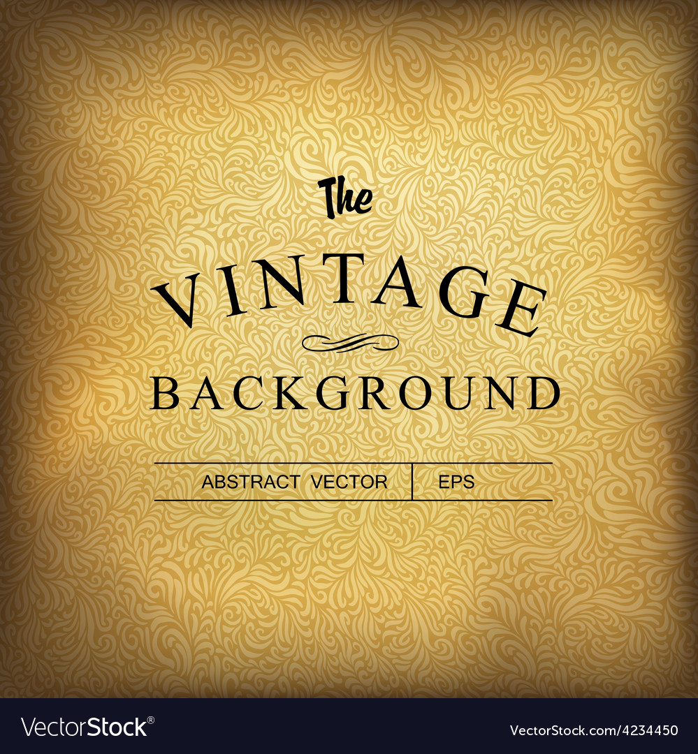 Golden vintage background template vector | Price: 1 Credit (USD $1)