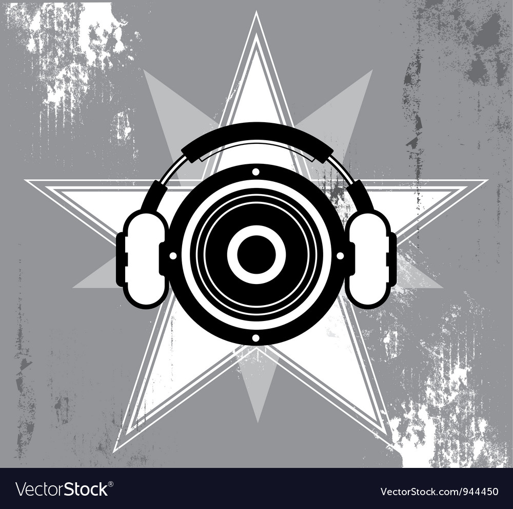 Grunge music star design vector | Price: 1 Credit (USD $1)