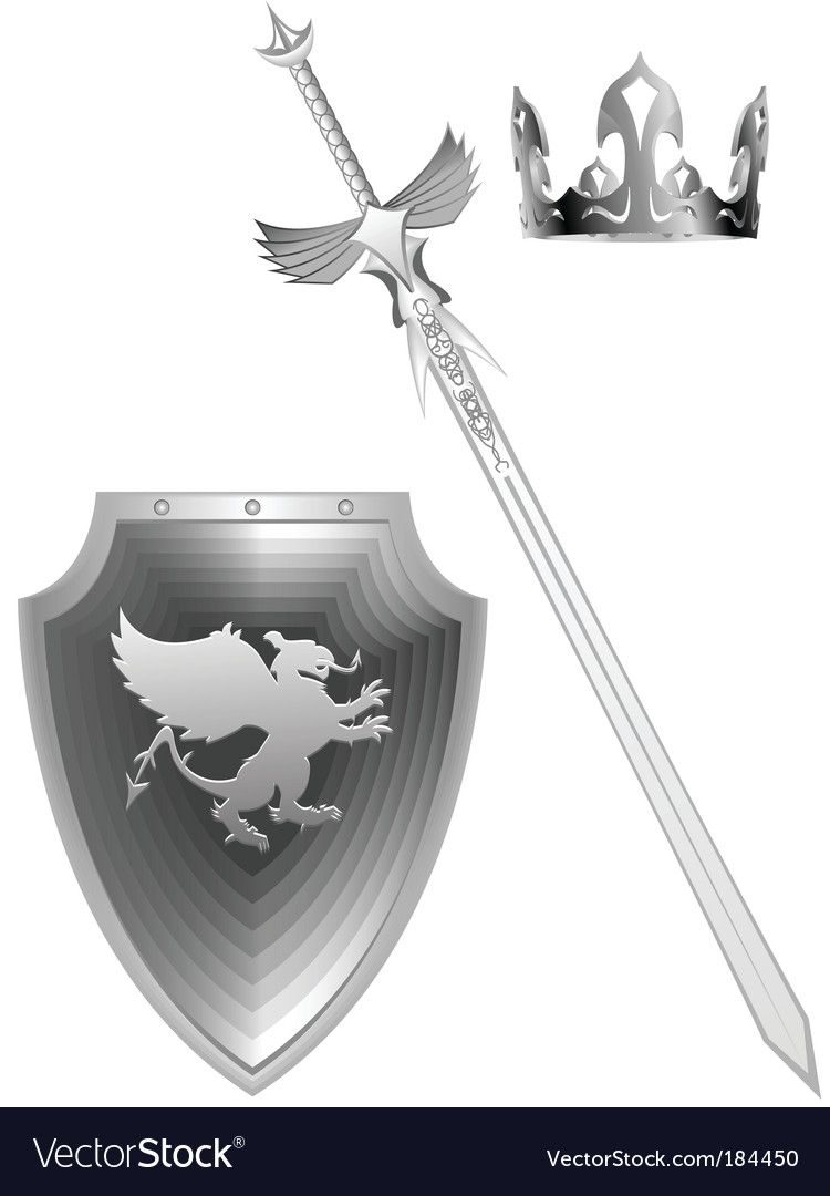 Knight fantasy sword vector | Price: 1 Credit (USD $1)