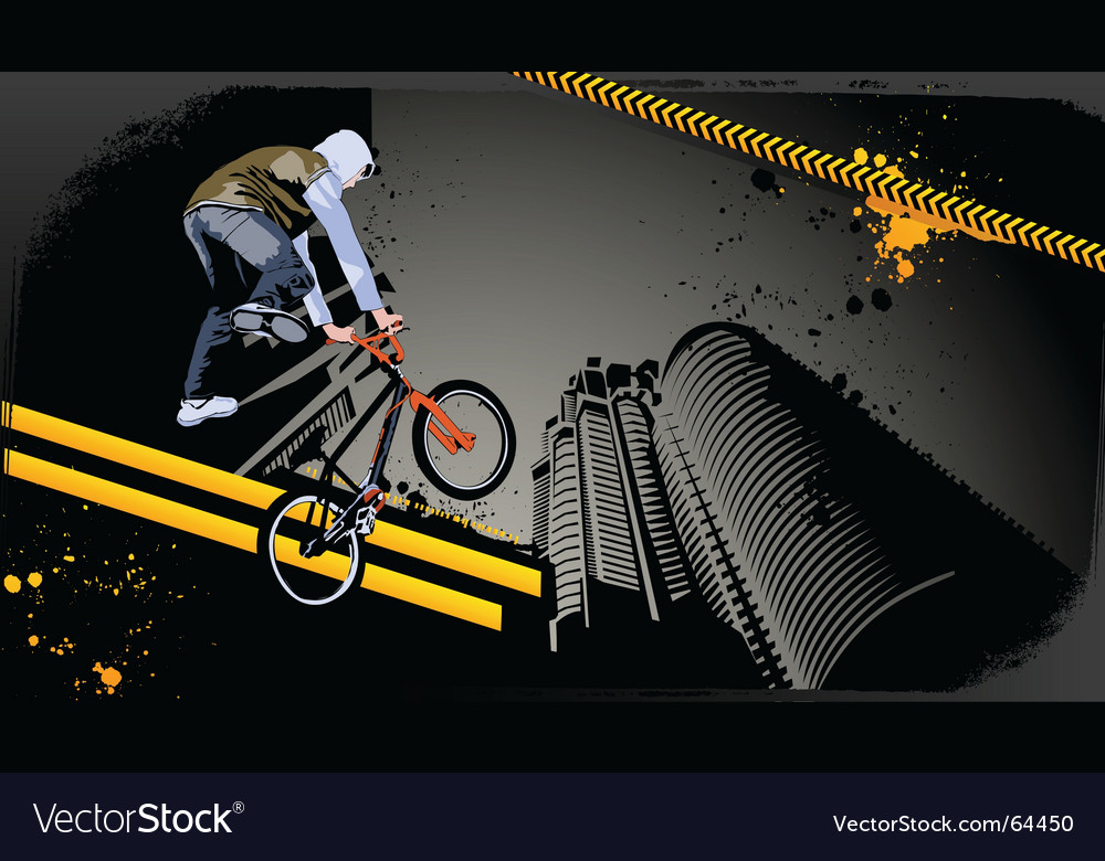 Urban biker vector | Price: 3 Credit (USD $3)