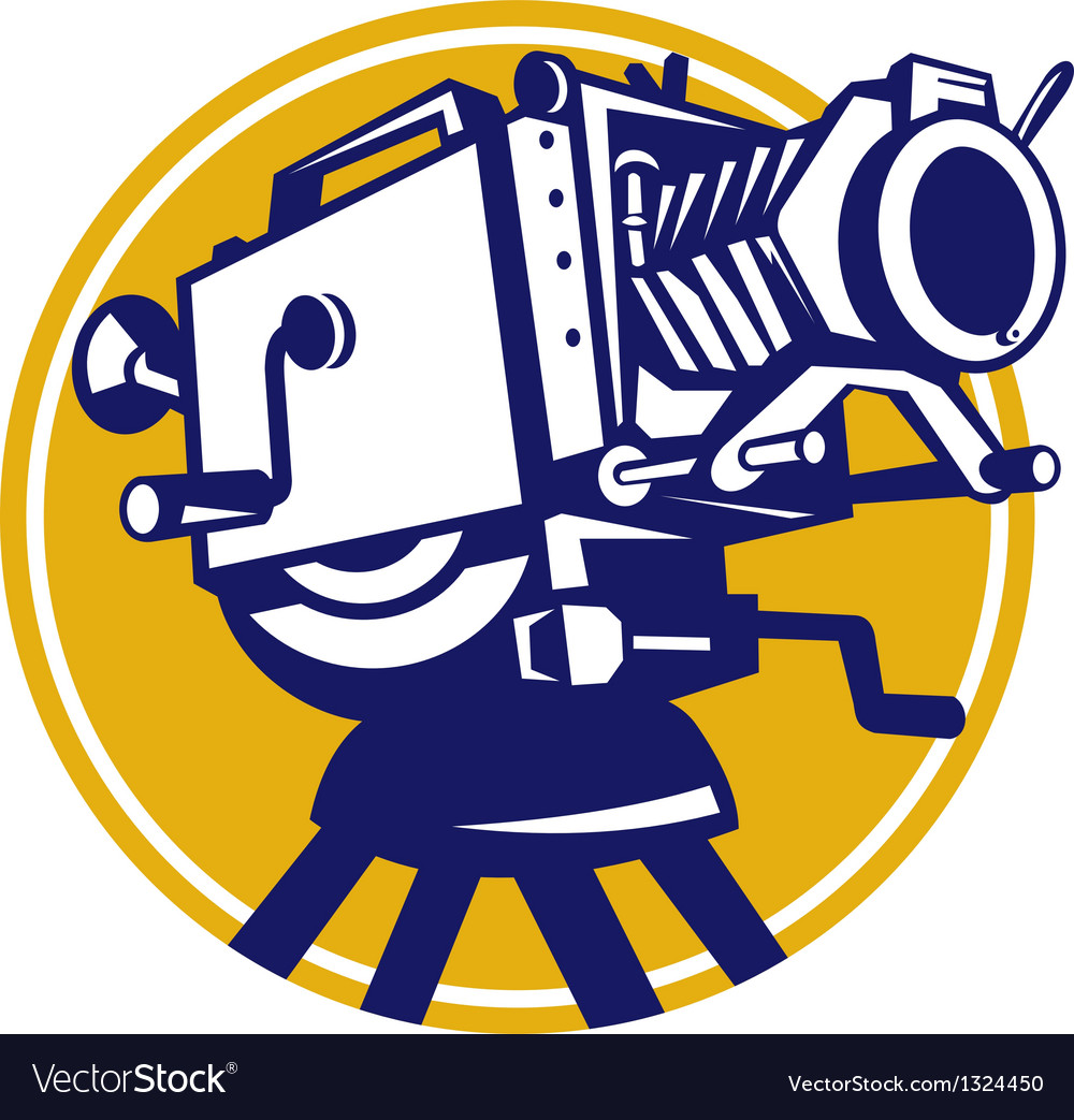 Vintage movie film camera retro vector | Price: 1 Credit (USD $1)