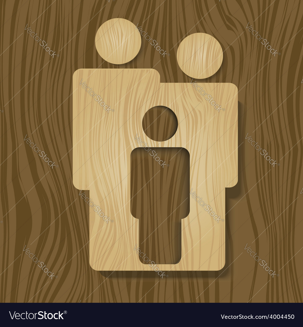 Wooden family vector | Price: 1 Credit (USD $1)