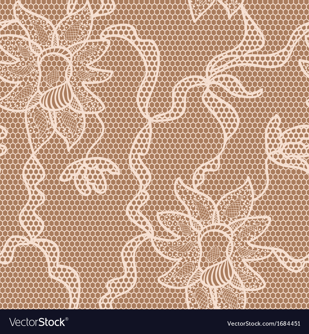 Beige lace fabric seamless pattern vector | Price: 1 Credit (USD $1)