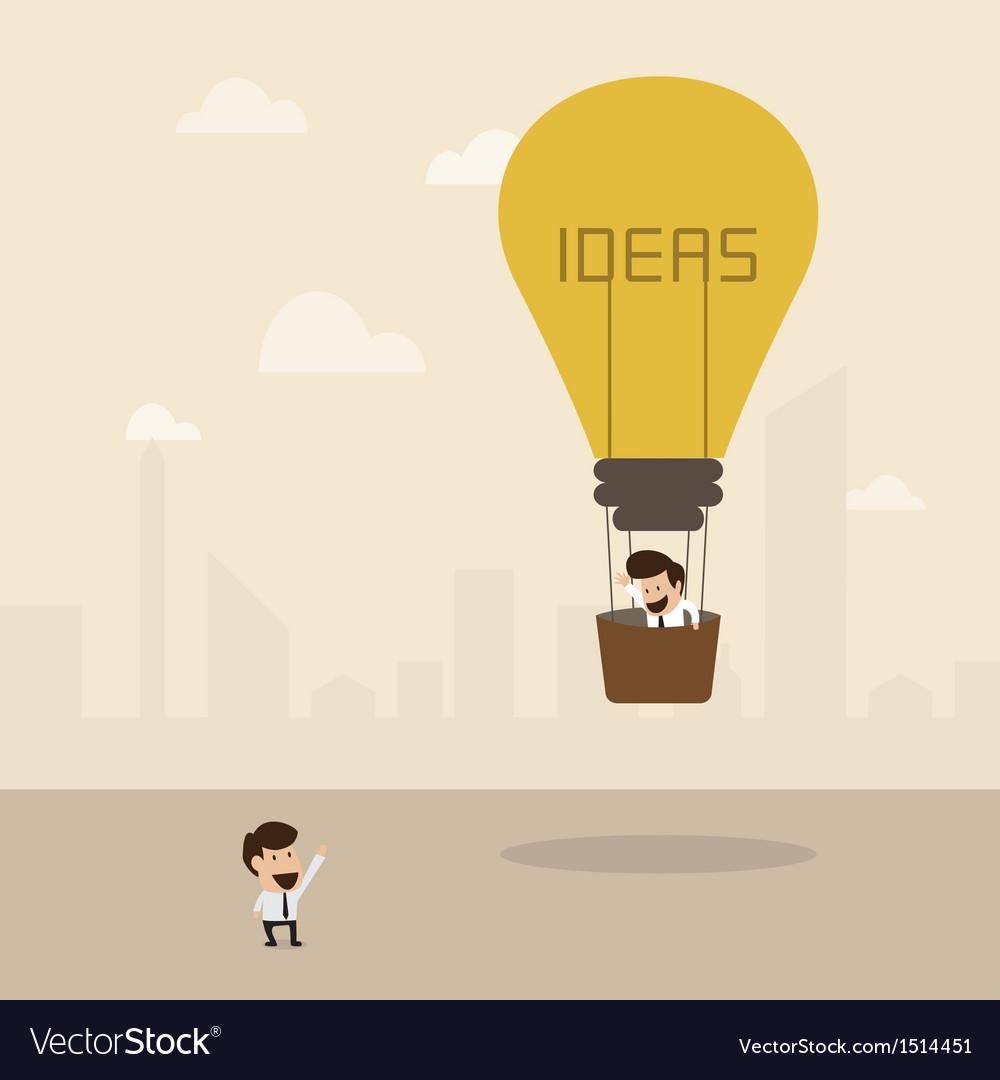 Businessman on lightbulb idea vector | Price: 1 Credit (USD $1)