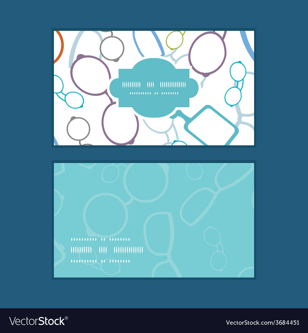 Colorful glasses horizontal frame pattern business vector | Price: 1 Credit (USD $1)