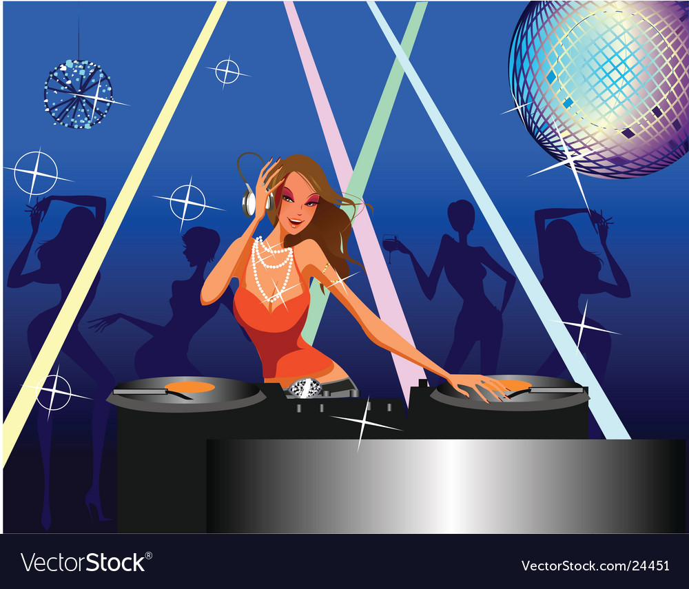 Disco girl vector | Price: 5 Credit (USD $5)