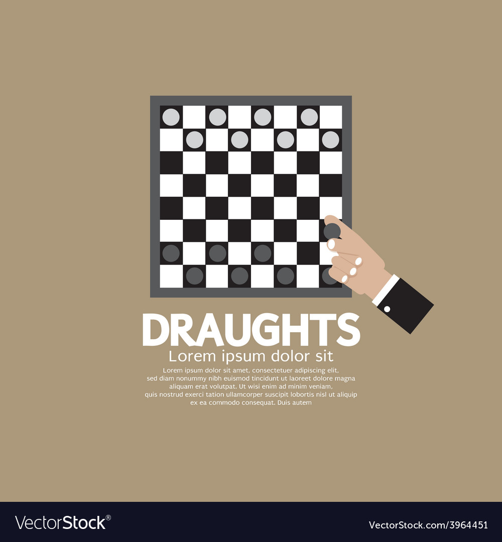 Draughts or checker board game vector | Price: 1 Credit (USD $1)