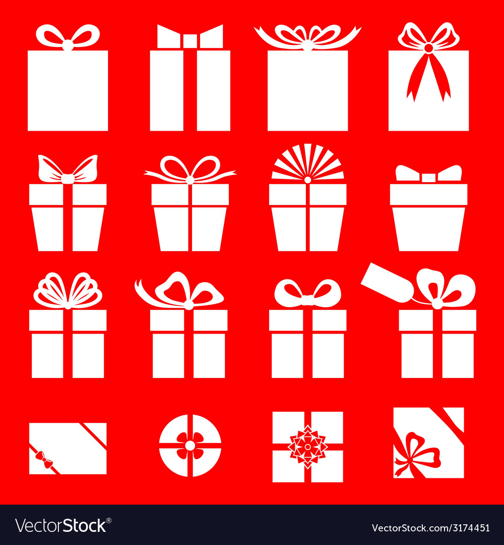 Gift red vector | Price: 1 Credit (USD $1)