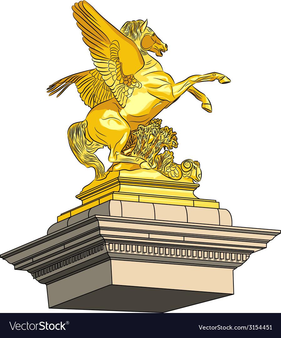 Golden horse vector | Price: 1 Credit (USD $1)