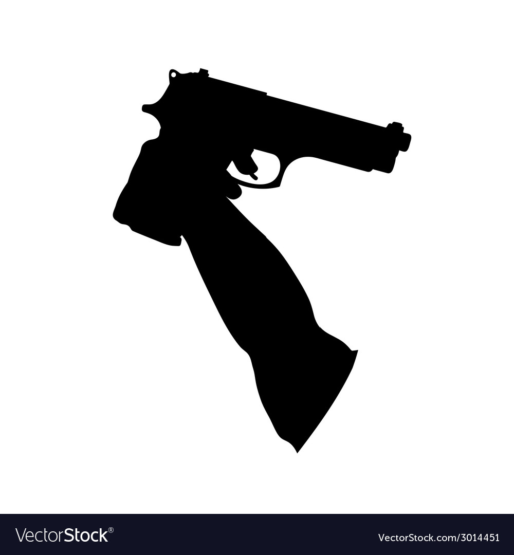 Guns in the hand vector | Price: 1 Credit (USD $1)