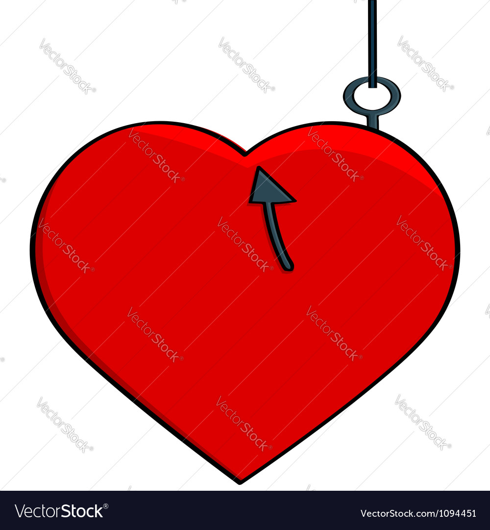 Hooked heart vector | Price: 1 Credit (USD $1)