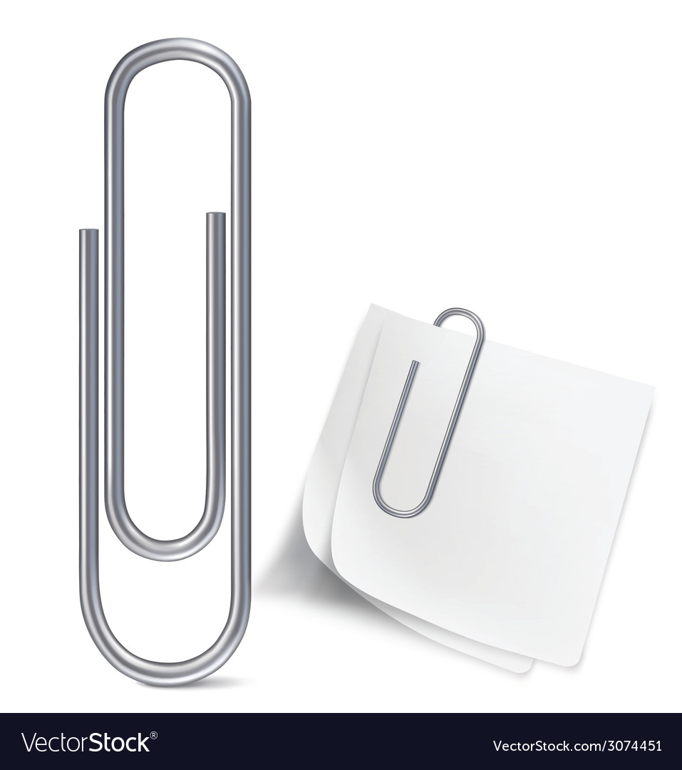 Paper clip vector | Price: 1 Credit (USD $1)