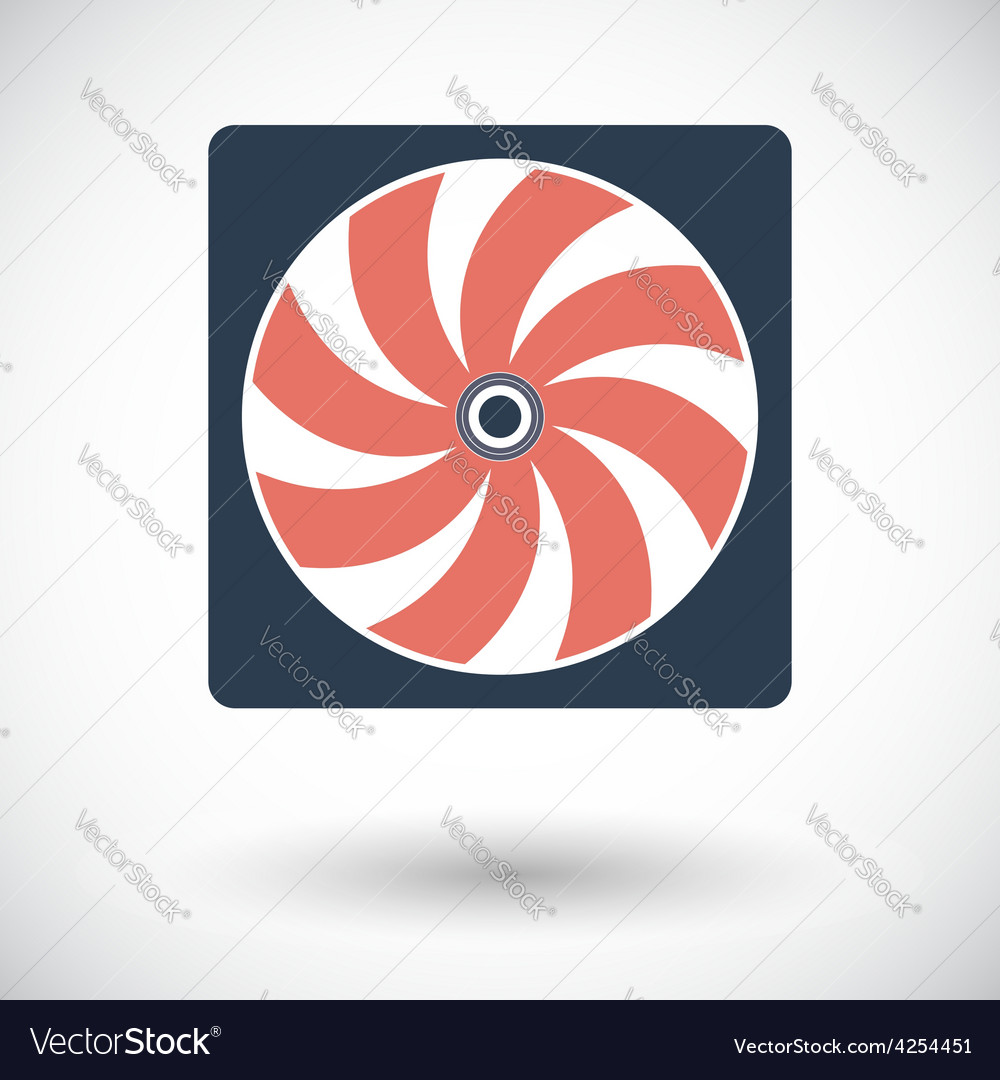 Radiator fan flat icon vector | Price: 1 Credit (USD $1)