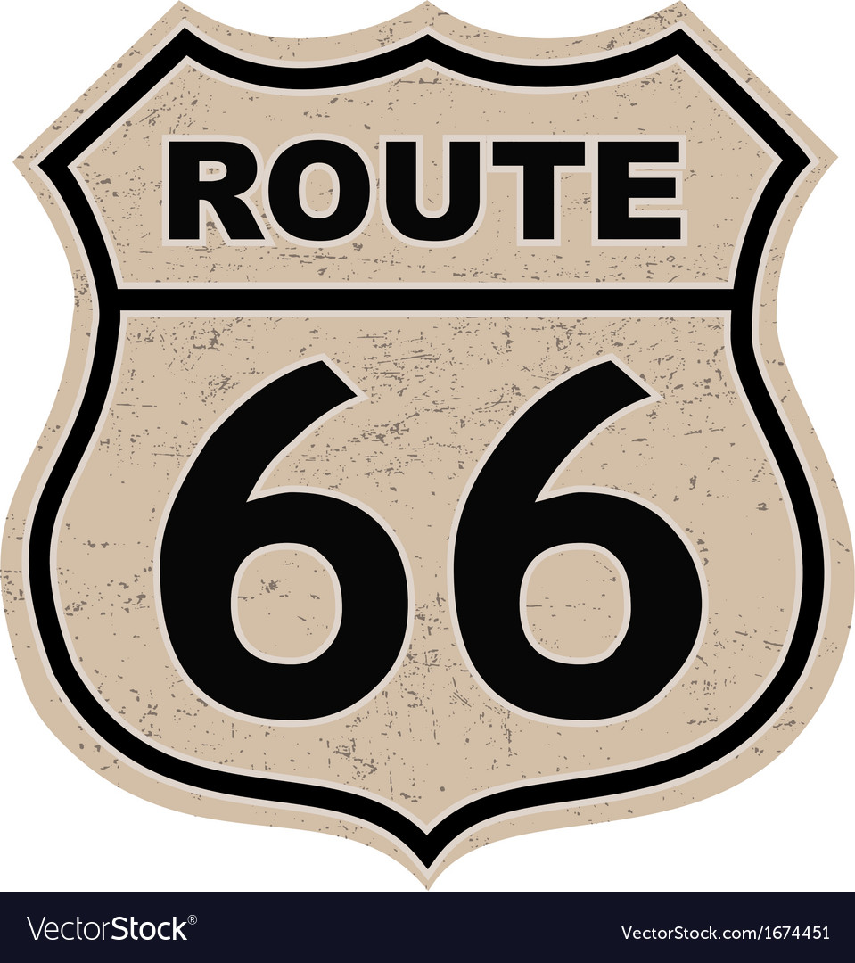 Route 66 sign vector | Price: 1 Credit (USD $1)