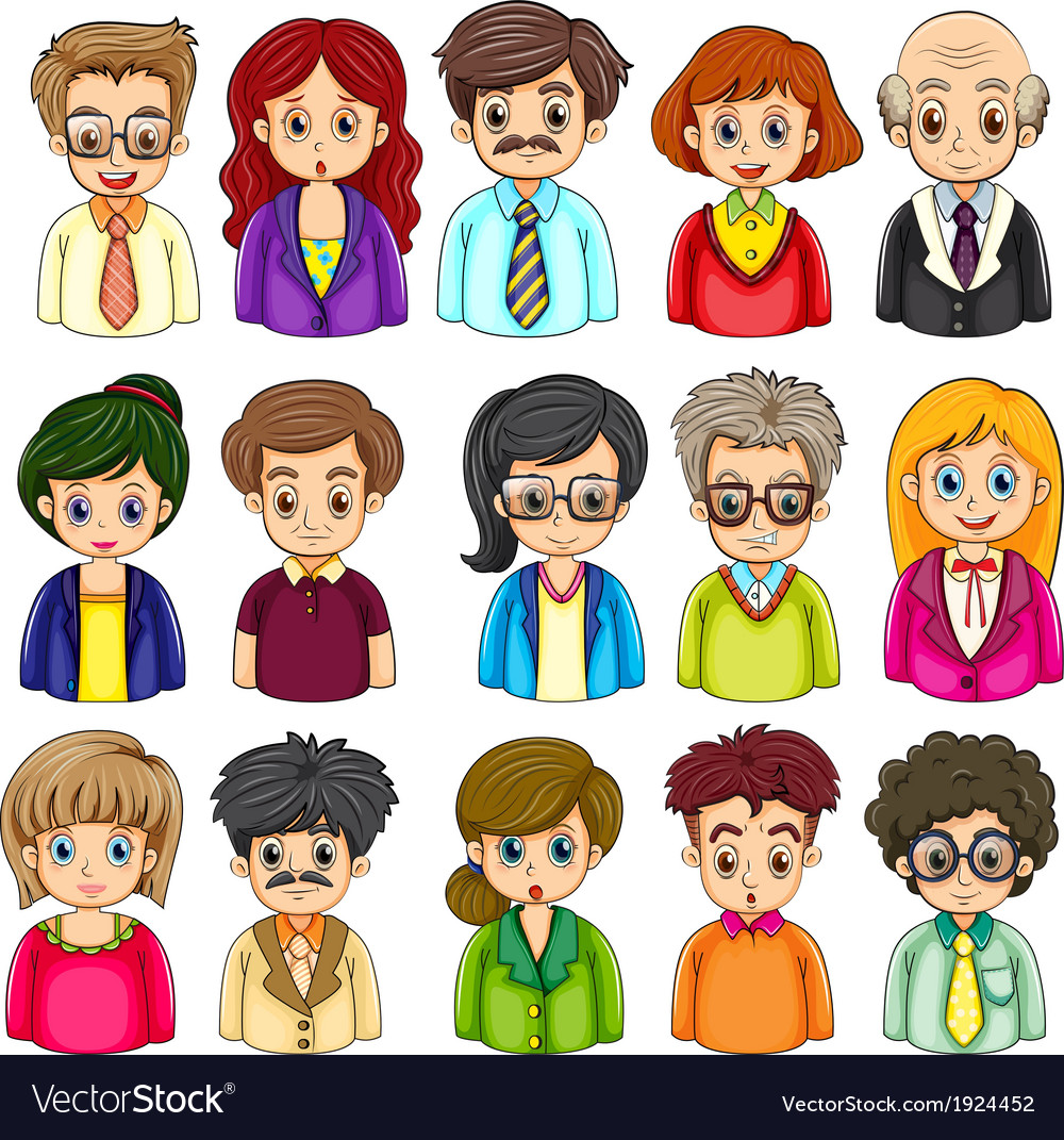 A group of people vector | Price: 3 Credit (USD $3)