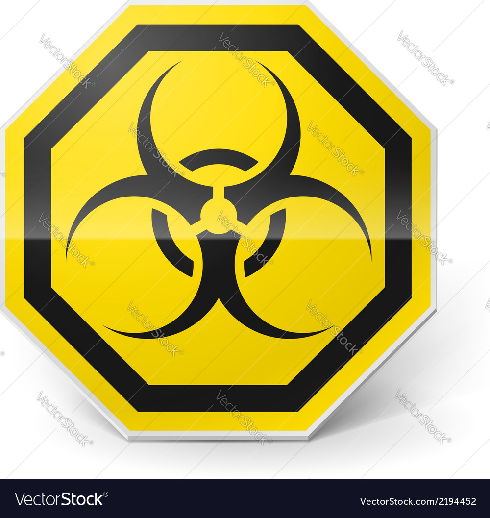 Biohazard sign vector | Price: 1 Credit (USD $1)
