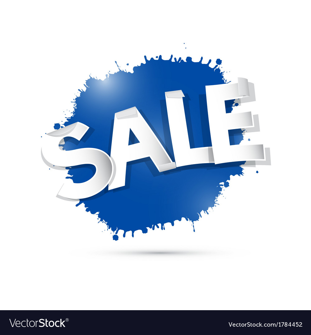 Blue sale label tag isolated on grey background vector   Price: 1 Credit (USD $1)