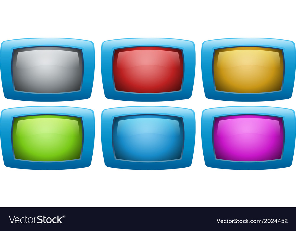 Colorful web buttons vector | Price: 1 Credit (USD $1)