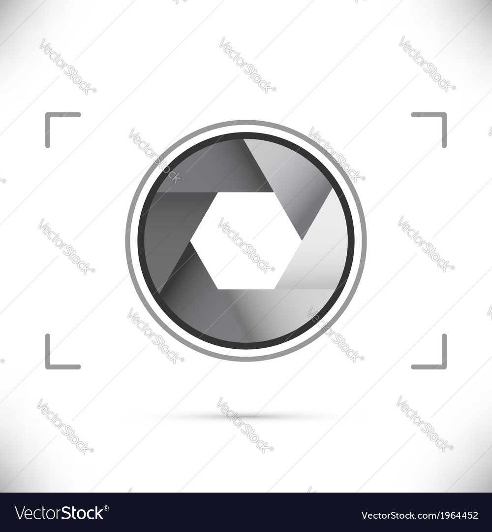 Gray stylized camera shutter diaphragm vector | Price: 1 Credit (USD $1)